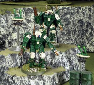 Green army Crisis Suits