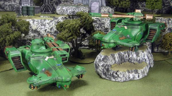 Grey army's two Hammerhead gunships