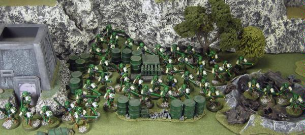 All of the armies' Firewarriors ready for battle