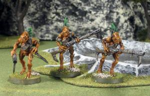 A close-up shot of some Kroot