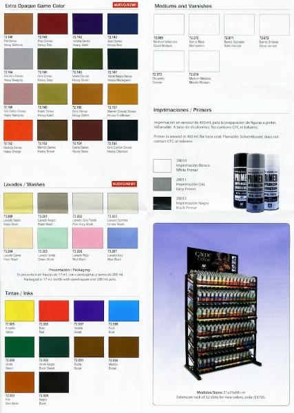 New Vallejo Game Color Heavy Paints And Washes For Sale Forum