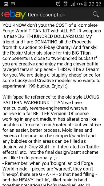 EBay Oddities (continued) - Page 17 - Forum - DakkaDakka | Roll the