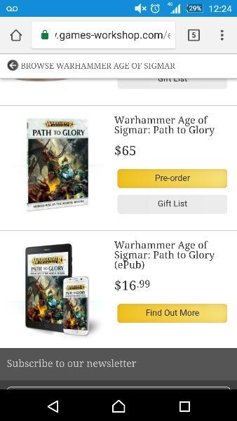 path to glory 40k rules pdf