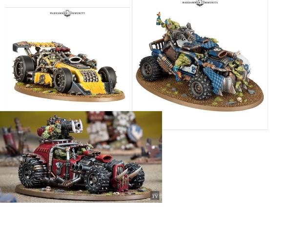 Looted Wheelz for Trukk Dragsta Buggy etc 20 x Warhammer Compatible ORK wheels.